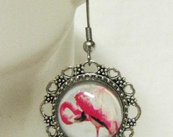 Red Flamingo earrings - BAP03-002
