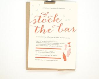 Stock The Bar Shower Invitation - Printable File