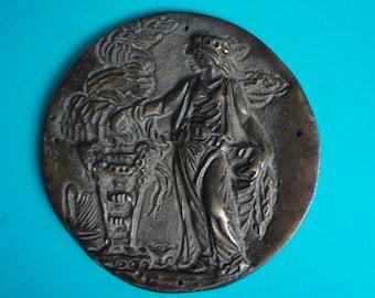 Bronze 5'' Round Medallions Plaque Art Piece for Crafting