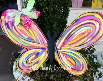 Butterfly Door Hanger, Welcome Door Hanger, Spring Door Hanger, Summer Door Hanger,