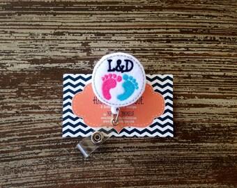 Labor and Delivery Badge Reel - Nurse - Pediatric - Labor and Delivery - Nurse Gift - Badge Reel -  Badge Holder - Felt Badge Reel - Office