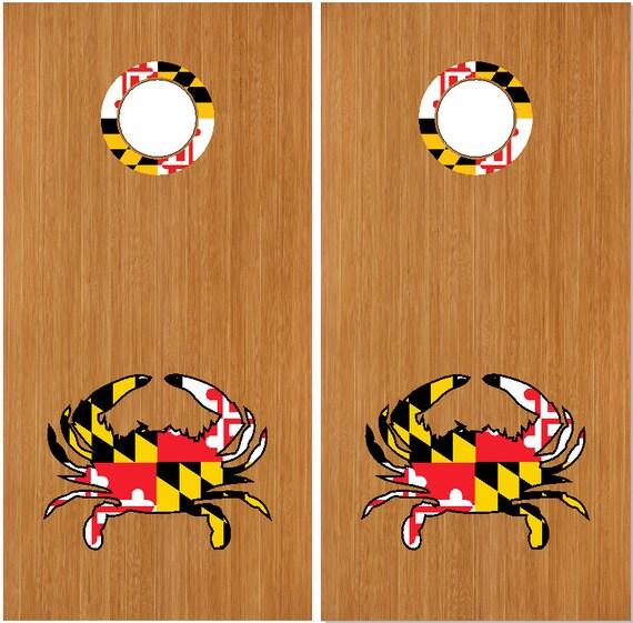 Maryland Flag Crab Decal Maryland Flag Crab Rings 18