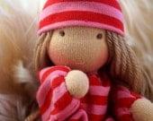 Tiny waldorf baby doll