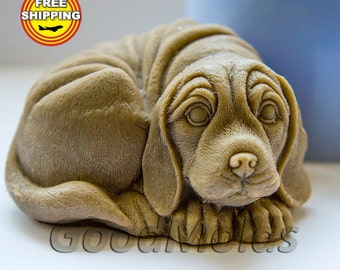 Dog 3D soap mold silicone molds mold for soap mold of a puppy mold of the dog mold silicone mold animals mold free shipping