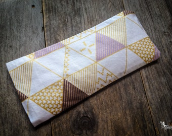 Yoga eye pillow Triangles Lavender or camomile & organic flaxseeds by Creations Mariposa