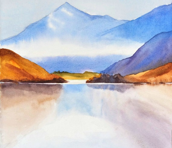 Mountain Watercolor Painting Landscape - 50.9KB
