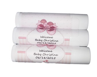 Its a girl shower favors - Set of 12 - Shower favors - Custom Names - Welcome Chapstick