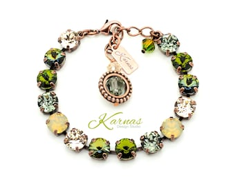 CAMO GLAM GIRL 8mm Crystal Bracelet Made With Swarovski Elements *Pick Your Finish *Karnas Design Studio *Free Shipping*