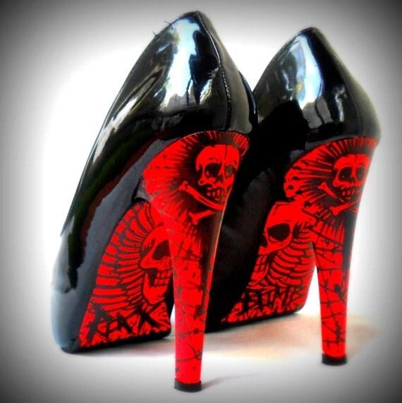 rock bomb high heels vegan stiletto shoes faux by