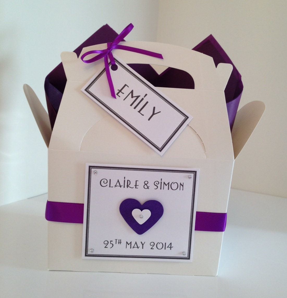 Personalised Wedding Gift Ribbon : Personalised Wedding Favour Box Childrens Wedding Gift Activity Box ...