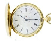 Hand Painted Tiffany and CO 18K Yellow Gold Pocket Watch