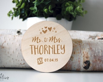 Wood Coasters, Engraved Coasters   Personalized Coaster - Engraved Gift - Wedding Gift - Wedding Coasters - Rustic Coaster - Wedding Favor