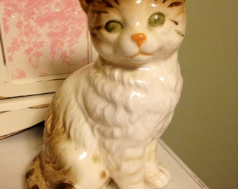 Cute Tabby Cat, Great Condition,Vintage,Mid Century,Ceramic