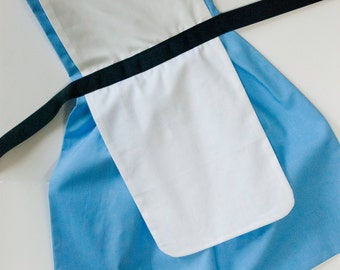 Alice in Wonderland dress up apron for toddlers and little girls