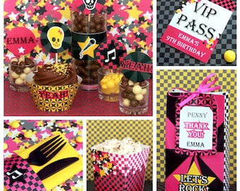Rockstar Birthday - Rock Star Party - Rockstar Party Decorations - Rockstar Birthday Printables - Girl Rock Party (Instant Download)