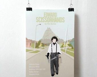 Edward Scissorhands Movie Print - Poster Tim Burton A3