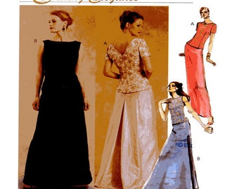 McCalls 2771, Full Length, Evening Gown, Sewing Pattern,Tunic Top, Fit Flare, Long Skirt, Prom, Grad, Bridesmaid, Size 6-8-10, Uncut