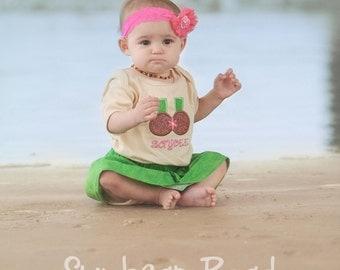 Baby Girl Coconut Bikini Summer Bodysuit with Name