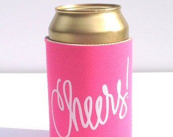 Cheers Drink Hugger - Neon Pink!