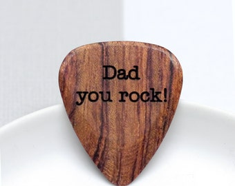 Guitar Plectrum, Best Dad Gift, Personalised Wooden Guitar Pick, Gift for Dad, Music Lover Gift, Personalized Guitar Plectrum