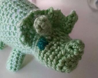 Handmade adorable Triceratops amigurumi