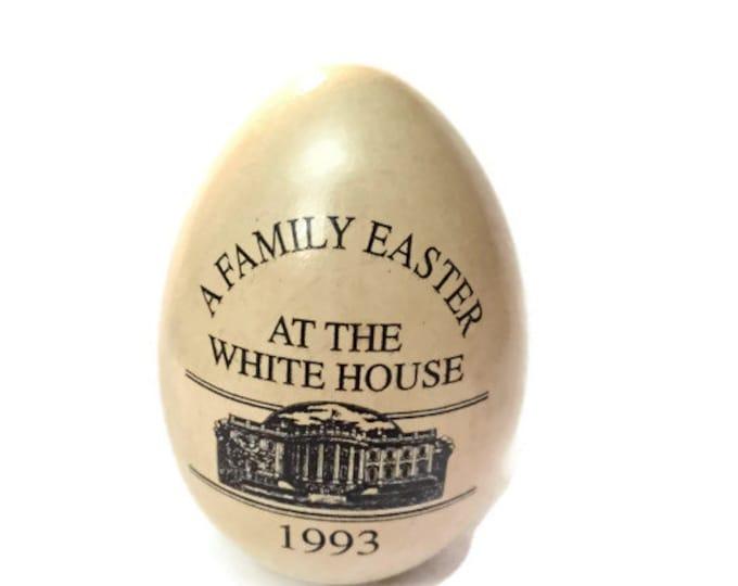 1993 White House Easter Egg Wooden Yellow Egg - White House Easter Egg Roll