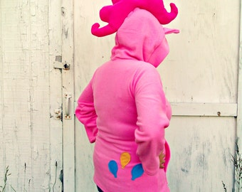 My Little Pony Custom plush Hoodie Jacket Pinkie Pie MLP FIM deluxe
