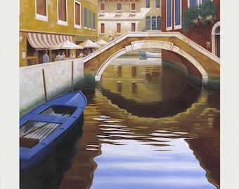Venice Art, Venice Painting, Venice Canal Art, Venice Art Print, Venice Canal Painting, Venice Canal, Italian Painting, Venice Artwork