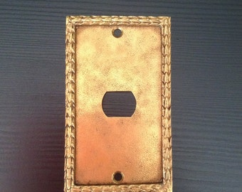 Solid Brass, Side Switch,  Light Switch Cover Plate, Single Light Switch Plate Cover, Solid Brass