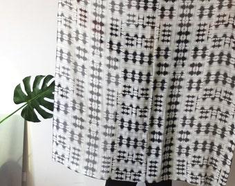 rare tribal ethnic aztec print georgette silk scarf