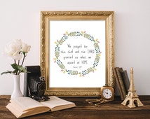Nursery Printable, 8x10, Instant Download We Prayed For This Child Nursery Print Scripture Verse Bible Verse Nursery Bible Art Wreath Print