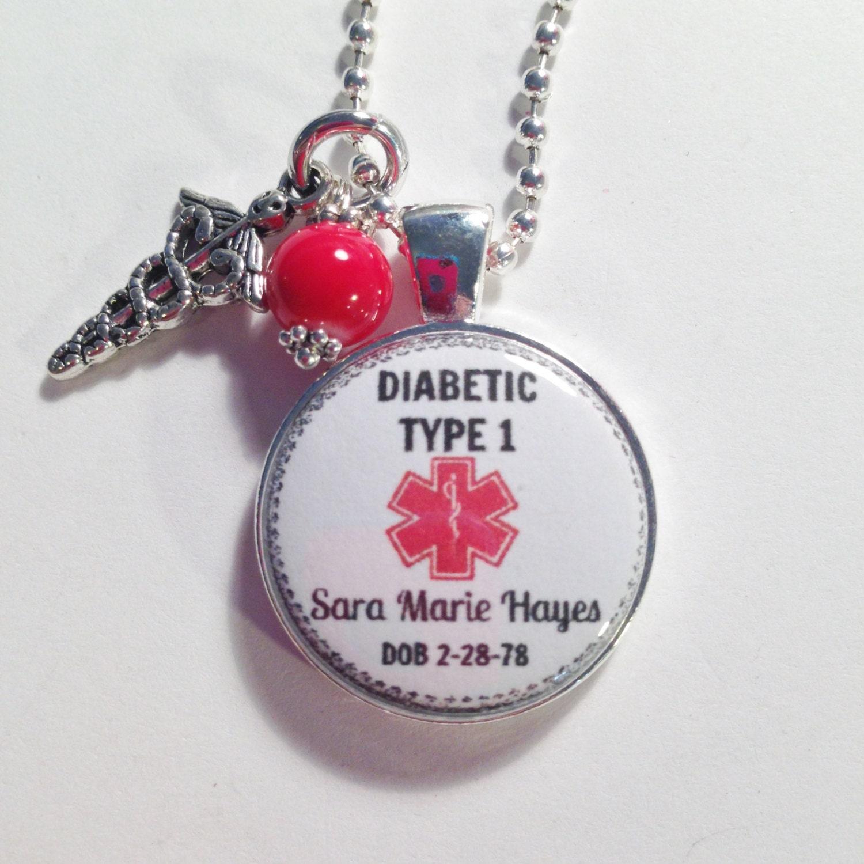 Medic Alert Necklace: MEDICAL ALERT Medical Alert Charm Jewelry/ By