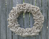 Plain Burlap Wreath, Year Round Burlap Wreath, Everyday Burlap Wreath, Custom Burlap Wreath, DIY Burlap Wreath