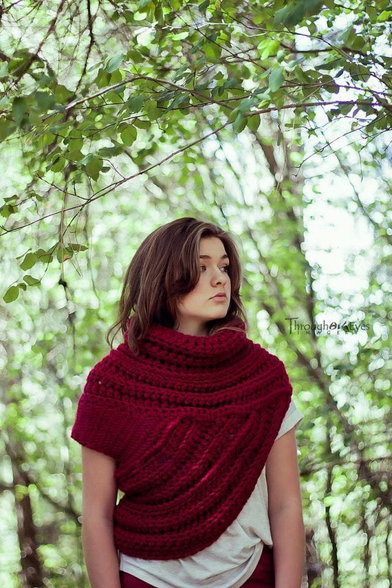 Katniss Inspired Cowl Huntress Cowl Vest by ThroughHisEyesCreate