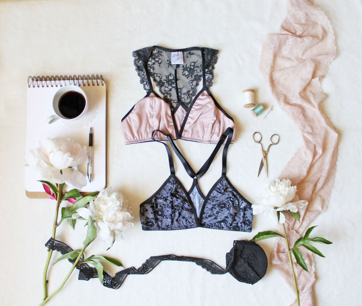 Sewing Pattern Triangles Bralette Sewing Pattern
