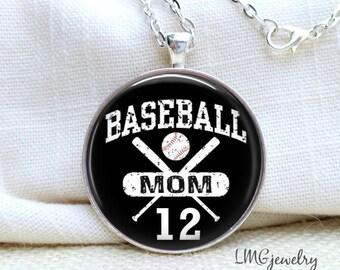 Baseball Mom Necklace, Personalized Baseball Necklace, Sports Necklace, Mother's Baseball Necklace, Sports Number Necklace, Baseball Jewelry