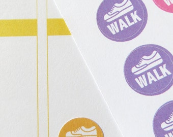 63 Walk Stickers for Erin Condren Planner, Filofax, Plum Paper