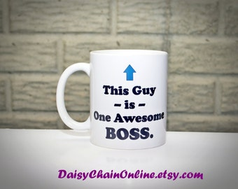 Gift for Boss - Funny Coffee Mug for Boss Christmas Gift, Gift for Men, Boss's Day Gift, Gift for Boss, Gift for Coworker, Gift for boss day