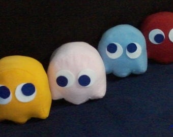 Pac-man ghost 8 inch plushies set of 4