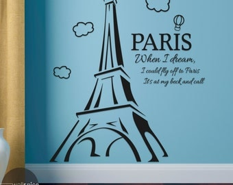 Crystal Gayle When I Dream I Could Fly Off To Paris It's At My Beck And Call Vinyl Wall Decal Sticker Song Lyrics