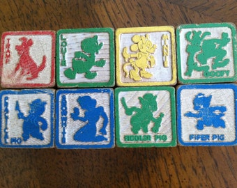 Walt Disney Wooden Blocks Set of 8