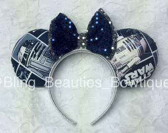 Disney Inspired Star Wars R2-D2 Minnie Mouse Ears Headband R2D2