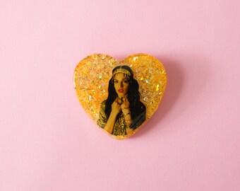 MIA // Resin Brooch or Necklace