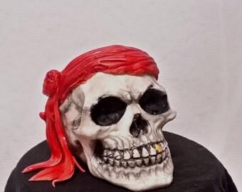 Fondant Pirate Skull Cake Topper