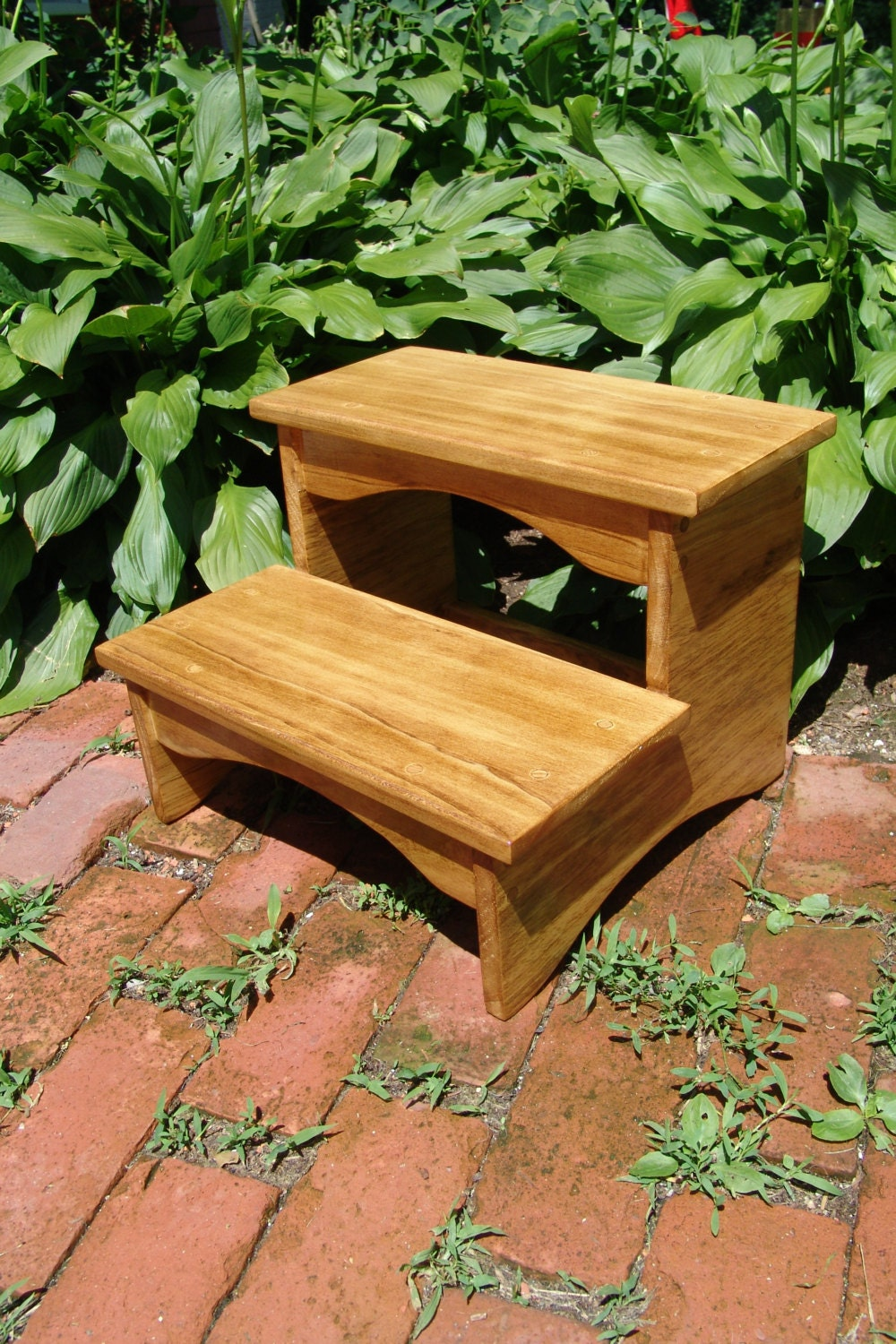 handcrafted heavy duty step stool wooden kitchen bedside. Black Bedroom Furniture Sets. Home Design Ideas