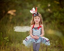 Boutique custom handmade pageant baby girls traditional inspired Alice in Wonderland dress tutu outfit