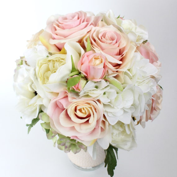 Items similar to wedding flower bridal bouquet wedding for Pastel colored flower arrangements