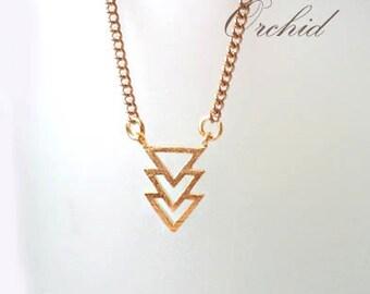 Gold Necklace. Arrows Necklace. Gold Arrow Necklace. Chevron Necklace. Geometric Necklace. Bohemian Necklace. Bridal, Bridesmaids Gift.
