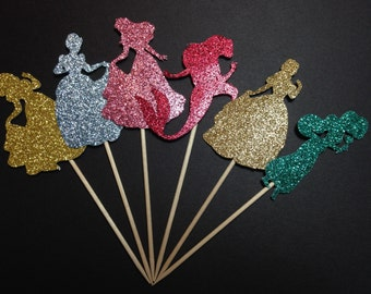Princess Cupcake Toppers (Princess Party, Princess Birthday, Fairytale Princess)