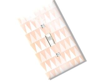 Blush Triangles Light Switch Cover Plate antique repo art  watercolor Multi Toggle Kitchen Dining  Home Decor Houseware